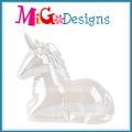 Elegante Unicórnio Em Forma De Cerco Piggy Bank Com Impressão Colorida