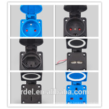 RD0009 IEC/CEE 16a Waterproof Industrial plug for socket coupler connector 6H 3P+E 3P 16A/32A IP67 High-end type for heavy duty