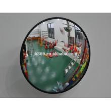 Portable anti-theft indoor convex glass mirror