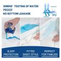 Housse de matelas imperméable en vinyle pour lit d'hôpital