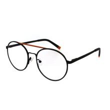 Latest Design Spring Hinge Unisex Best Quality Double Bridge Round Blue Light Blocking Glasses