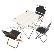 camping juegos de mesa y una silla plegables de aluminio