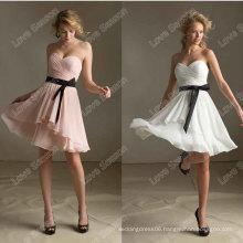 HC4278 The Whole Sale A Line Sleeveless Sweetheart Crystal Diamond Chiffon Black Ribbon Evening Dresses