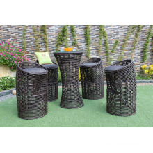 New trendy Wicker PE Rattan Round Bar set for Outdoor Furniture