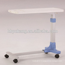 2016 F-33 ABS hôpital mobile sur table à lit, table d'appoint à l'hôpital, table en bois sur le lit