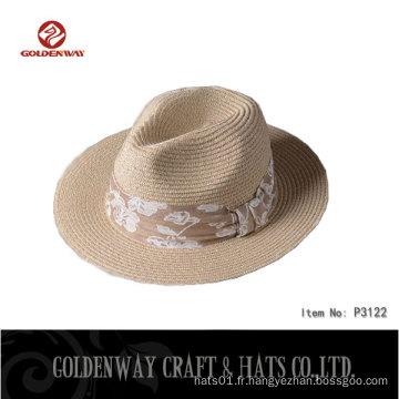 BSCI SEDEX Nouveaux chapeaux panama bon marché à la mode