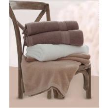 Luxury Hotel Spa Bath Towels 100% Cotton Dobby Border Set Spa Towel With Logo Towel