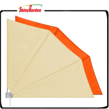 Retractable Fan Shaped Sun Shade Window Awning with UV Protection