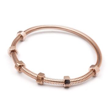 Custom Rose Gold Plated Stainess Steel Bangles Nuts