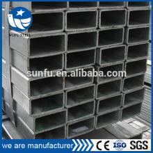 Tube de meuble rectangulaire ERW GB / T6728 à chaud en pleine taille
