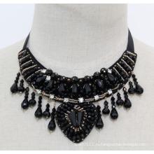 Дамы бисером Кристалл мода коренастый ожерелье Шарм Биб костюм (JE0023)
