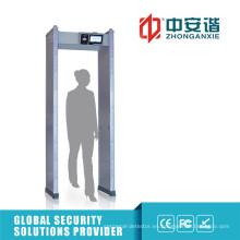 Pantalla táctil 24/33 Puerta del detector de metales de las zonas con el contador de la alarma