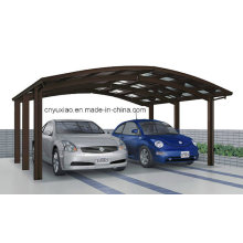 2014 Modernes Doppel-Aluminium-Carport für 2 Autos
