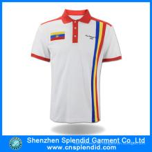 2016 Neues Produkt Sport Polo T-Shirt Mode Weiß mit roten Kleidern