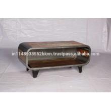 Soporte de TV de madera y hierro recuperado