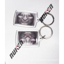2015 Square Popular Printed Acrylic Keychain