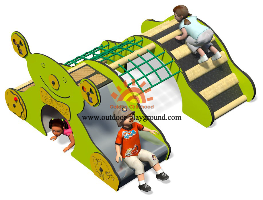 durable park playground climb with slide