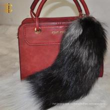 Тренд моды Фокс хвост меховой аксессуар брелок сумка кулон меха брелок