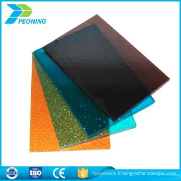 Panneau en polycarbonate transparent résistant à la corrosion feuille de plastique transparent panneaux de toiture solaire