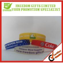 Promotion Cadeaux à bas prix Logo imprimé Bracelet en caoutchouc