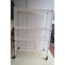 NSF polvo de recubrimiento de metal Wire Security Cart Factory