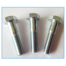 Plain Stainless Steel Part Threaded Hex Bolt