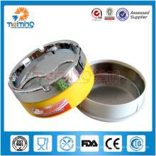 Cinzeiro de metal de tampa fechada colorida / cinzeiro de aço / cinzeiro de charuto