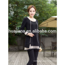 women's organza collar 100% Cashmere sweater dress