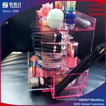 Yagelic display & Acrylic Lipstick with Brush Holder
