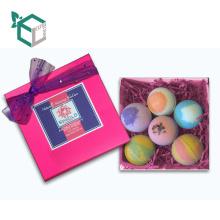 Schöne rosa Design Verpackung Bad Bombe Set Pack für perfekte Hautpflege