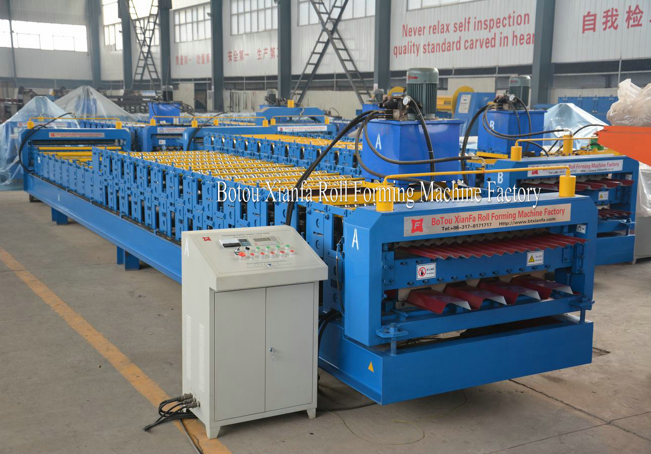 IBR water wave metal sheet machine