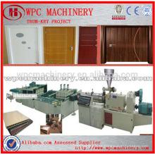 PVC em série PVC linha de produção de portas PVC em pó + madeira em pó Madeira plástica porta de produção de porta composta