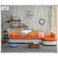 Red Color Cute Leather Sofa, Modern Sofa, Home Furniture (M303)