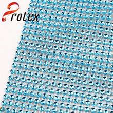 Rainbow Color Plastic Without Rhinestone Mesh Crystal Line Trims