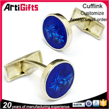 Customized design silk knot cufflinks
