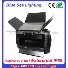 Светодиодная прожекторная лампа 60шт x 18w rgbwa uv 6in1 dmx rgb