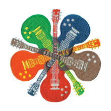 Hippie Guitar Music Lovers Broderad Patch