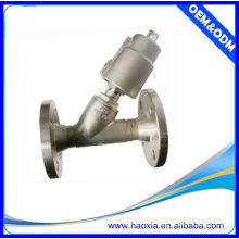 Fornecedor chinês válvula pneumática flange ângulo válvula de 2 vias