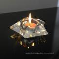 2016 castiçal de cristal de alta qualidade presentes de casamento castiçal