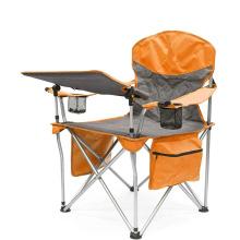 Cadeira dobrável para vinho ao ar livre com mesa ajustável