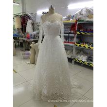 El nuevo diseño europeo de la llegada bordó los vestidos de boda