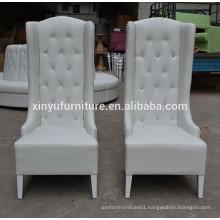 2015 fashion elegant white wedding party high wing back chair XYN942