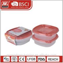 Zone de conteneur micro-ondes plastique alimentaire (2pcs) 0,67 L