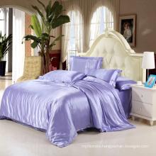 China Manufacture Solid Microfiber Fabric Silk Bedding