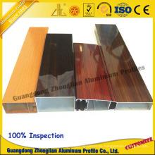 Grano de madera modificado para requisitos particulares de la electroforesis del perfil de la protuberancia de aluminio para el perfil de la ventana