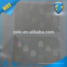 Etiqueta engomada de encargo clara del sello del holograma / etiqueta engomada transparente del sello de la identificación del holograma