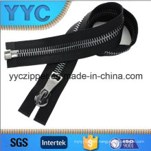 8# Big Size One Way Metal Zipper for Leather Jacket