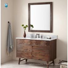 "Salle de bains design italienne Cararra marbre blanc Top 48 ""ensemble de vanité de bain / armoire de salle de bains de style américain"