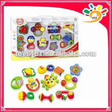 Bunte Aufklärung Serie Baby Spielzeug, Lustige Kunststoff Hand Bell Set Spielzeug (10 Stück ein Set)
