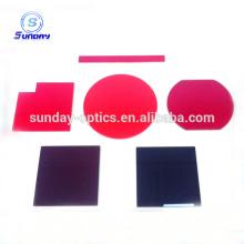Filtre optique en verre rouge 600-720nm